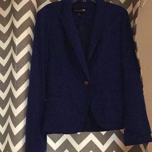 Royal blue blazer S forever 21